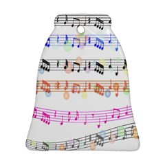 Notes Tone Music Rainbow Color Black Orange Pink Grey Ornament (Bell)