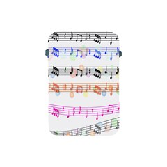 Notes Tone Music Rainbow Color Black Orange Pink Grey Apple iPad Mini Protective Soft Cases