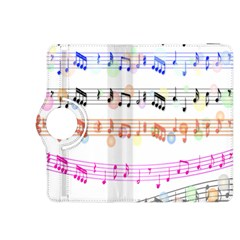 Notes Tone Music Rainbow Color Black Orange Pink Grey Kindle Fire Hdx 8 9  Flip 360 Case