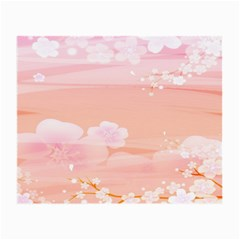 Season Flower Floral Pink Small Glasses Cloth
