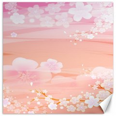 Season Flower Floral Pink Canvas 12  x 12