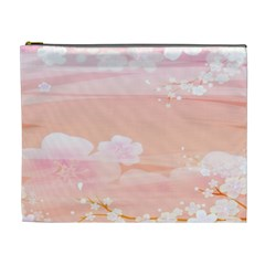 Season Flower Floral Pink Cosmetic Bag (XL)