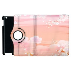 Season Flower Floral Pink Apple iPad 2 Flip 360 Case