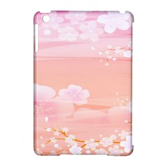Season Flower Floral Pink Apple Ipad Mini Hardshell Case (compatible With Smart Cover)