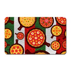 Pizza Italia Beef Flag Magnet (rectangular)