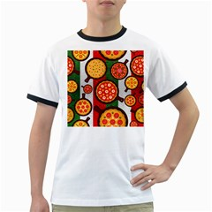Pizza Italia Beef Flag Ringer T-Shirts