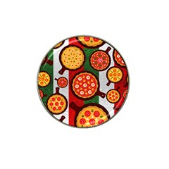 Pizza Italia Beef Flag Hat Clip Ball Marker (4 Pack)