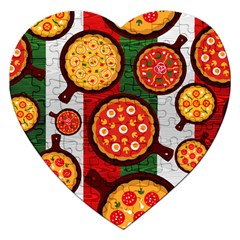 Pizza Italia Beef Flag Jigsaw Puzzle (Heart)