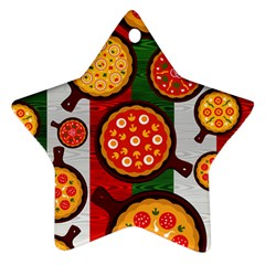 Pizza Italia Beef Flag Star Ornament (Two Sides)