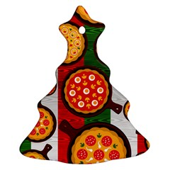 Pizza Italia Beef Flag Christmas Tree Ornament (two Sides)