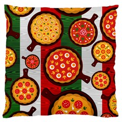 Pizza Italia Beef Flag Large Cushion Case (One Side)
