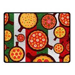 Pizza Italia Beef Flag Double Sided Fleece Blanket (Small)
