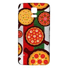 Pizza Italia Beef Flag Samsung Galaxy S5 Back Case (White)