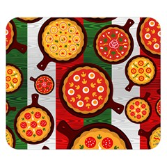 Pizza Italia Beef Flag Double Sided Flano Blanket (Small)