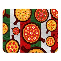 Pizza Italia Beef Flag Double Sided Flano Blanket (Large)
