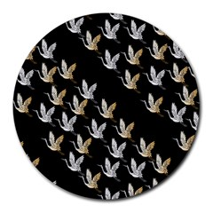 Goose Swan Gold White Black Fly Round Mousepads