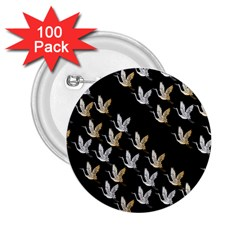 Goose Swan Gold White Black Fly 2 25  Buttons (100 Pack)
