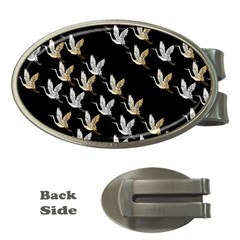 Goose Swan Gold White Black Fly Money Clips (Oval)