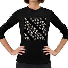 Goose Swan Gold White Black Fly Women s Long Sleeve Dark T-Shirts
