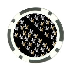 Goose Swan Gold White Black Fly Poker Chip Card Guard