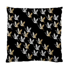 Goose Swan Gold White Black Fly Standard Cushion Case (One Side)