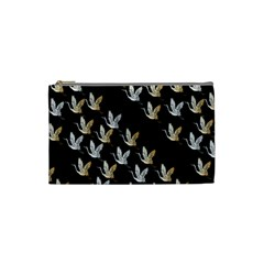 Goose Swan Gold White Black Fly Cosmetic Bag (small)