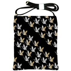 Goose Swan Gold White Black Fly Shoulder Sling Bags