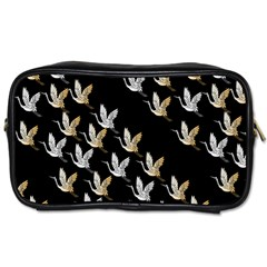 Goose Swan Gold White Black Fly Toiletries Bags