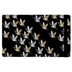 Goose Swan Gold White Black Fly Apple iPad 3/4 Flip Case