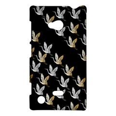 Goose Swan Gold White Black Fly Nokia Lumia 720