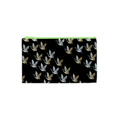 Goose Swan Gold White Black Fly Cosmetic Bag (XS)