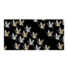 Goose Swan Gold White Black Fly Satin Wrap