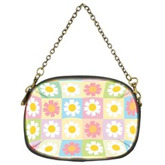Season Flower Sunflower Blue Yellow Purple Pink Chain Purses (Two Sides)
