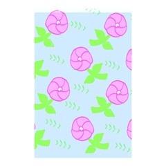 Spring Flower Tulip Floral Leaf Green Pink Shower Curtain 48  x 72  (Small)