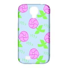 Spring Flower Tulip Floral Leaf Green Pink Samsung Galaxy S4 Classic Hardshell Case (PC+Silicone)
