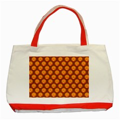 Pumpkin Face Mask Sinister Helloween Orange Classic Tote Bag (Red)