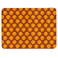 Pumpkin Face Mask Sinister Helloween Orange Samsung Galaxy Tab 7  P1000 Flip Case
