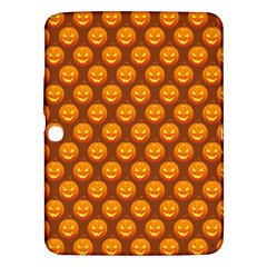 Pumpkin Face Mask Sinister Helloween Orange Samsung Galaxy Tab 3 (10.1 ) P5200 Hardshell Case