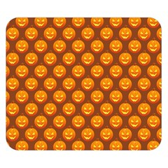 Pumpkin Face Mask Sinister Helloween Orange Double Sided Flano Blanket (Small)