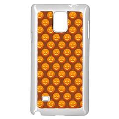 Pumpkin Face Mask Sinister Helloween Orange Samsung Galaxy Note 4 Case (White)