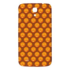 Pumpkin Face Mask Sinister Helloween Orange Samsung Galaxy Mega I9200 Hardshell Back Case