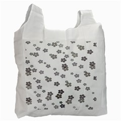 Flower Grey Jpeg Recycle Bag (One Side)