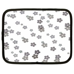 Flower Grey Jpeg Netbook Case (XXL)