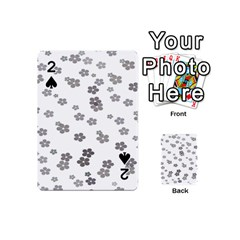 Flower Grey Jpeg Playing Cards 54 (mini)