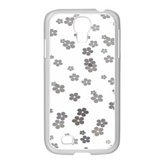 Flower Grey Jpeg Samsung GALAXY S4 I9500/ I9505 Case (White)