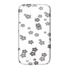 Flower Grey Jpeg Samsung Galaxy S4 Classic Hardshell Case (PC+Silicone)