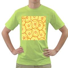 Lemons Orange Lime Circle Star Yellow Green T-Shirt