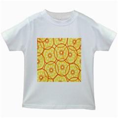 Lemons Orange Lime Circle Star Yellow Kids White T-Shirts