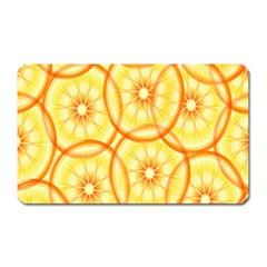 Lemons Orange Lime Circle Star Yellow Magnet (Rectangular)