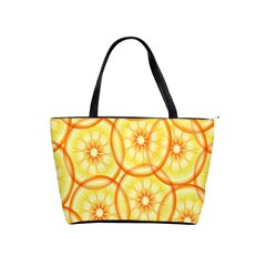 Lemons Orange Lime Circle Star Yellow Shoulder Handbags